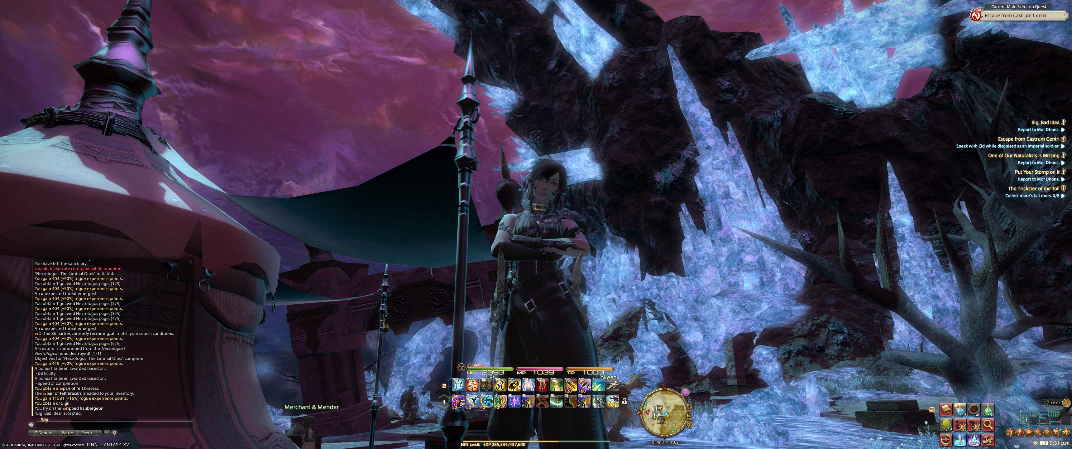 FFXIV Ninja/Samurai ScreenShots – QuestForEternity